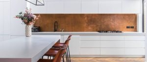 aged-patina-copper-kitchen-backsplash