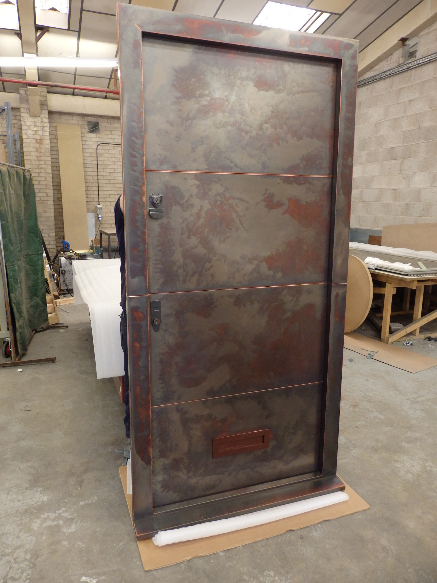 wholesale dealer 8a93d 3378a Bronzed Copper Front Door and Frame | Metal Sheets Limited