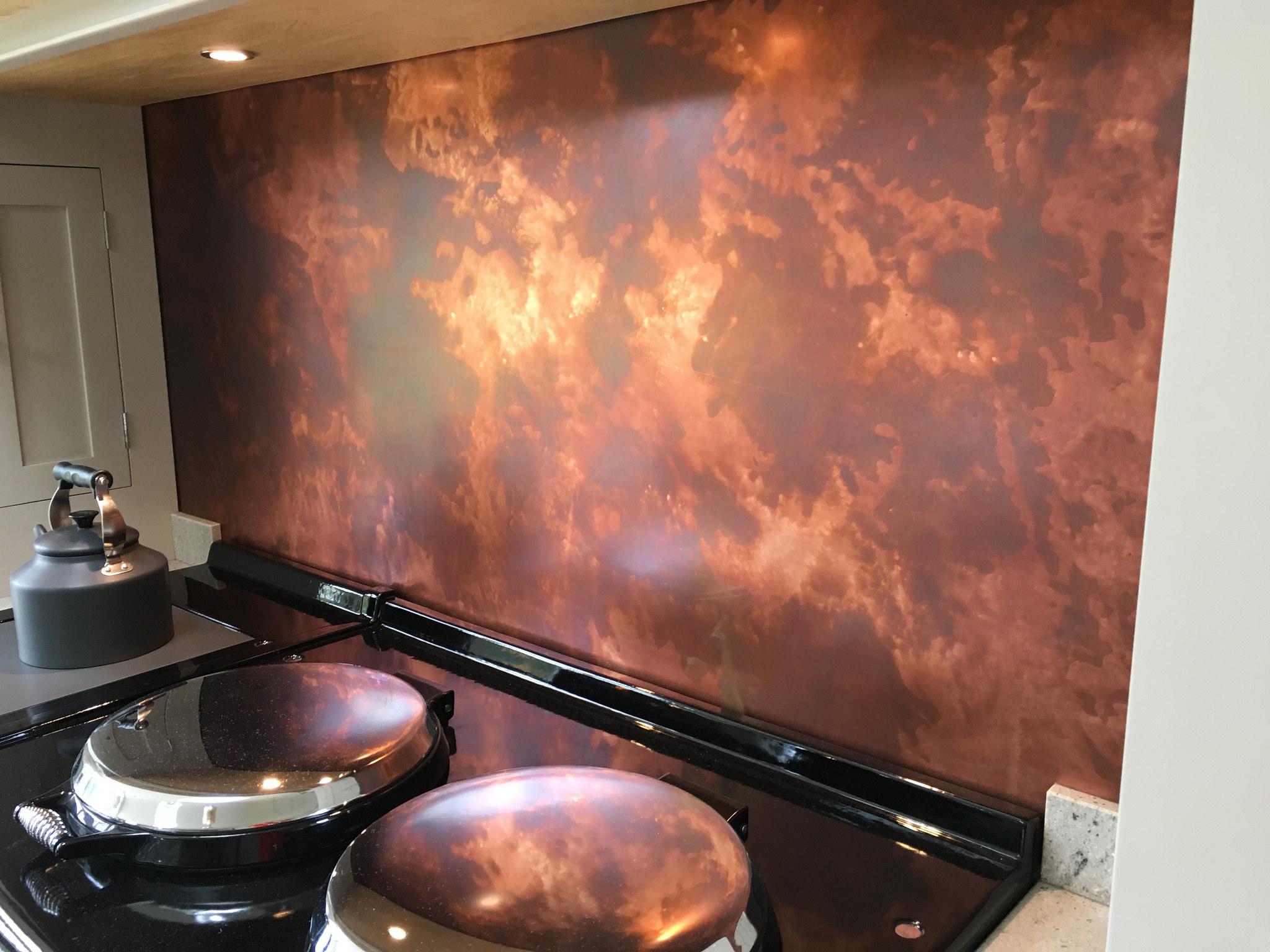 Distressed Copper Backsplash Metal Sheets Limited