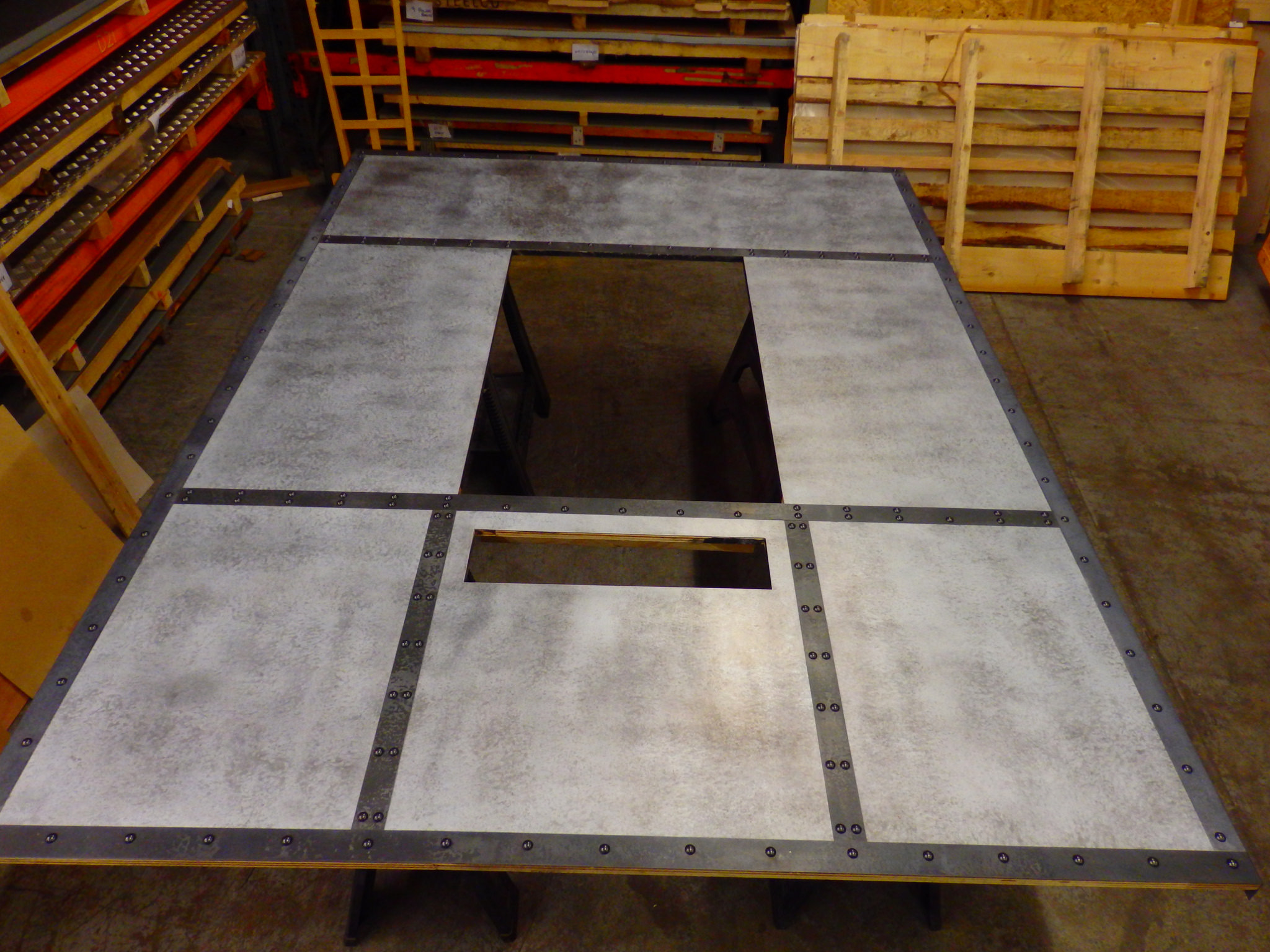 Industrial Look Zinc Wall Panel For Cooker Install Metal
