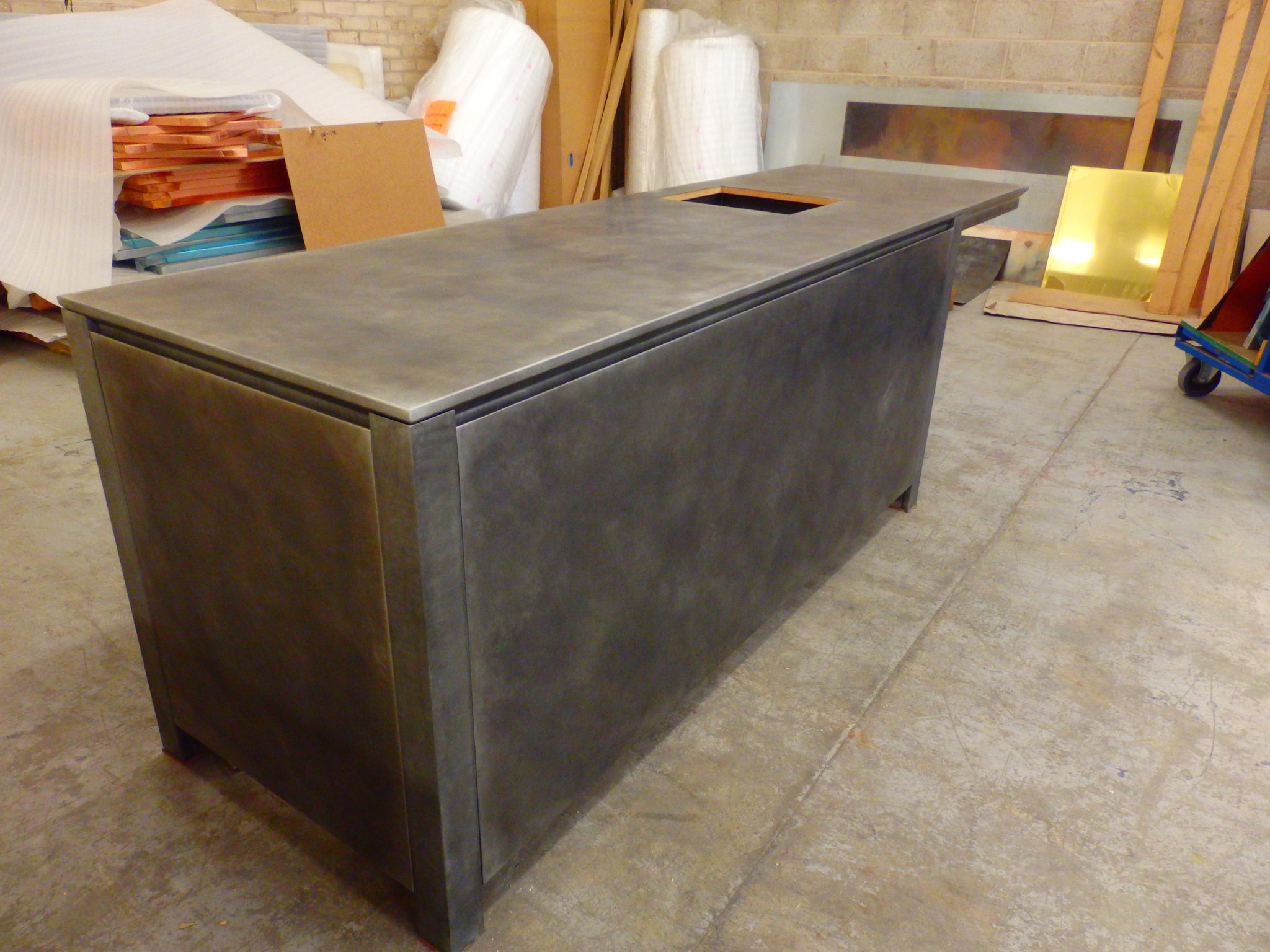 Light Patina Zinc Counter Metal Sheets Limited