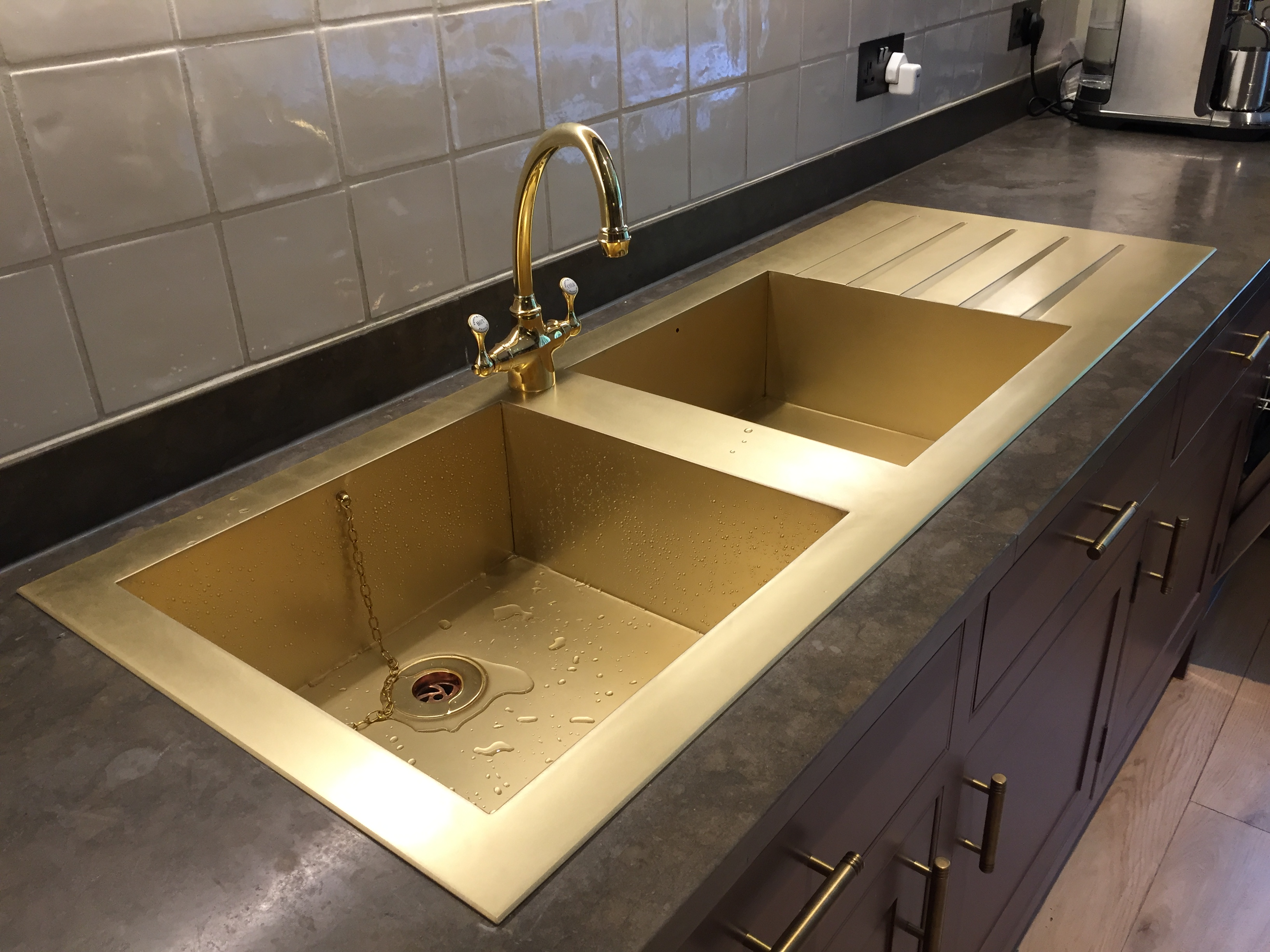 Drop in Brass Sink Drainer | Metal Sheets Limited